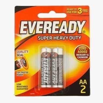 Eveready Super Heavy Duty 2 AA